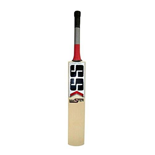 S+S SS Master 99 Cricketschläger aus englischem Weidenholz, kurzer Griff, ideal für Lederball