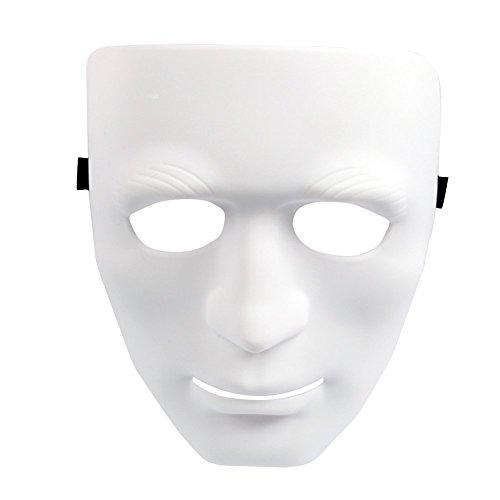 Xiton Full Face Maske Kunststoff Plain-Kostüm-Party-Tanz-Crew für Hip Hop Dance / Oper ()