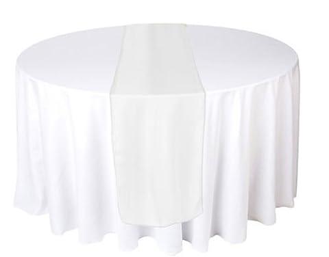 Organza 70cm x 275cm Tischläufer-bunten Sheer Cover-für Hochzeiten, Jahrestage, Geburtstag und andere Feste-Formale oder Casual Events, Weiß, 30cm x 275cm