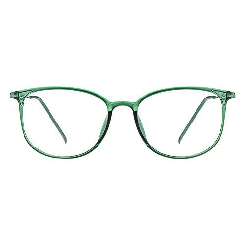 Haodasi Klassische Nerdbrille,Modische Leicht Rahmen Brillenfassung Klare Linse Vintage Brille für...
