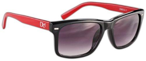 Dice occhiali da sole, multicolore (nero lucido/rosso), taglia unica