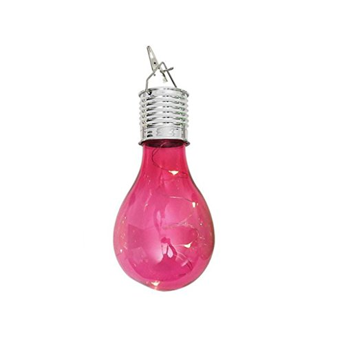 sunnymi Solar-Kupfer-Lampe Kronleuchter/Energieeffizient/Wasserdichtes Solar/Drehbare Outdoor Garten Camping Hanging LED Licht Lampe (pink)