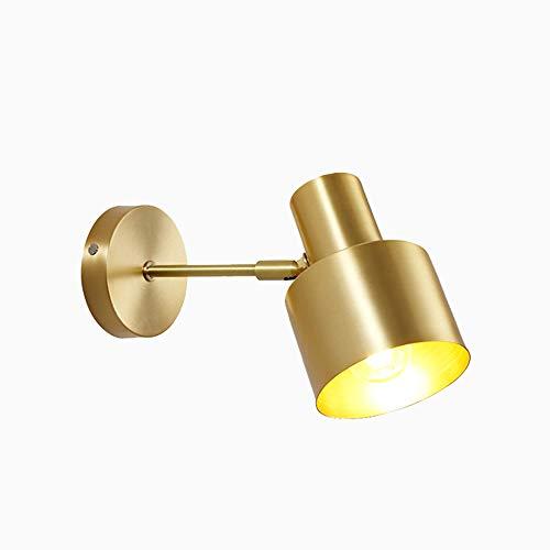 ZSSM Solo latón Pared Spotlight Girar Industrial diseñado Antiguo latón conmutado iluminación...