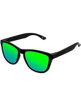 Hawkers Carbon Black Emerald One , Gafas de Sol Unisex, Negro/Verde
