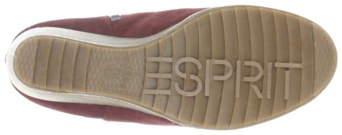 ESPRIT Tayla Wedge Bootie H10480, Stivaletti donna Rosso (Rot (bordeaux mouline 619))