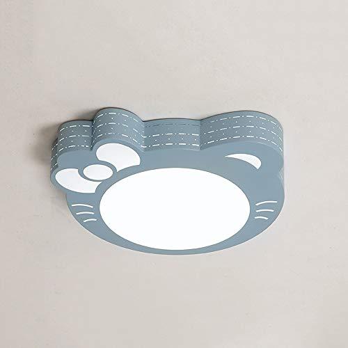 Qyyru Kinderzimmer Schlafzimmer Decke Licht Unterputz Beleuchtung LED Prinzessin warme Räume Warm/Kalt Weiß Rosa Katze romantische runde Lichter für Flur, Arbeitszimmer/Büro, Esszimmer, Küche, Sch -