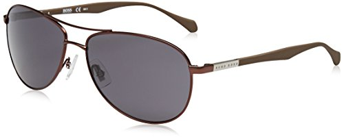 BOSS Hugo Herren 0824/S Ir Sonnenbrille, Braun (Matt Brown/Grey Blue), 60