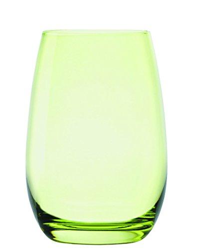 Stölzle Lausitz Elements Kids Becher in grün, 335 ml, 6er Set Gläser, spülmaschinenfest, Bunte Trinkbecher, hochwertige Qualität