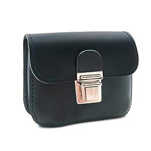 Made in Germany Gürteltasche - Bauchtasche - Minitasche CHEYENNE aus naturbelassenem Leder in schwarz inkl. Bio-Lederpflege von THIELEMANN