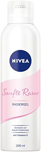 NIVEA Sanfte Rasur Rasiergel im 6er Pack (6 X 200 ml), ermöglicht eine besonders gründliche und sanfte Rasur, schützt vor Hautirritationen -