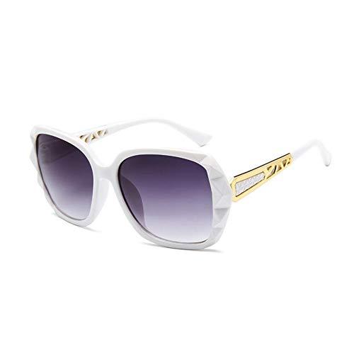 WZYMNTYJ Quadratische übergroße Sonnenbrille Damenmode Sonnenbrille Lady Vintage Shades UV400