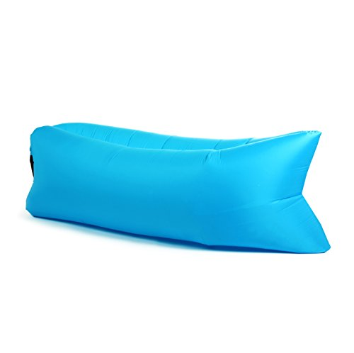 PANDA PUFF HINCHABLE SOFA TUMBONA DE AIRE COLOR AZUL