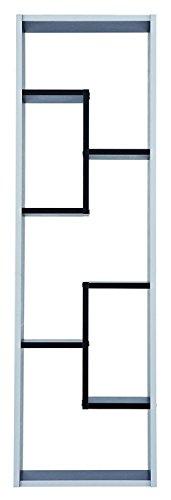 habeig Regal Grafit #521 schwarz weiß 5 Fächer Standregal Bücherregal Büroregal Schrank