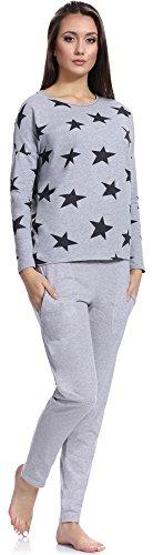 Italian Fashion IF Pigiama per Donna M007 Melange-2(Star3)