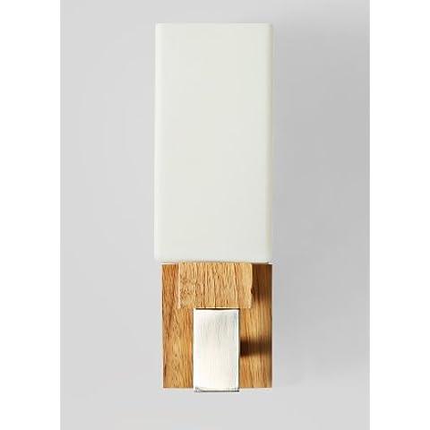 midtawer Creative real salón minimalista de madera y banquetas de pared de madera, una luz) Columna