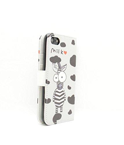 iPhone 7Wallet Fall–Zubehör für Handys von Oliviasphones weiß Musical Phone Giraffe I Love Milk Cow