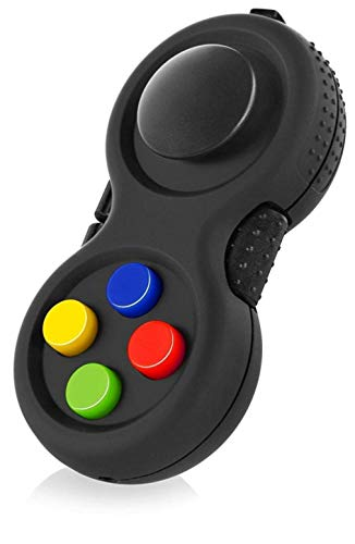 Classic Controller Game Pad Fidget Focus Toy with 8-Fidget Functions and Lanyard - Perfect for Relieving Stress