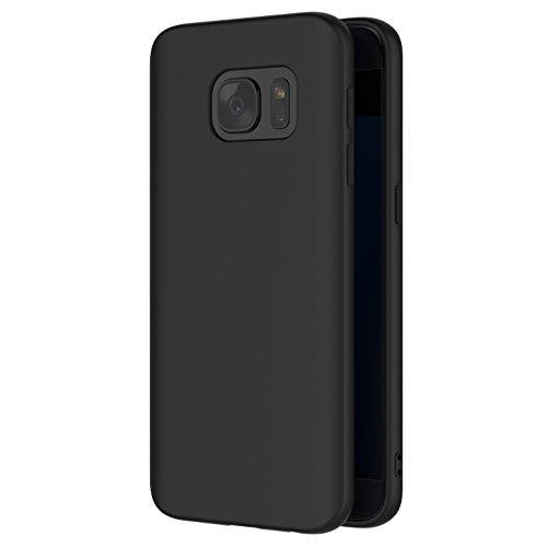Funda Samsung Galaxy S7, AICEK Negro Silicona Fundas para Galaxy S7 Carcasa...