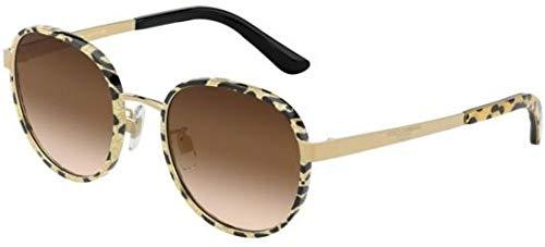 Ray-Ban Damen 0DG2227J Sonnenbrille, Leo Glitter Gold, 52.0