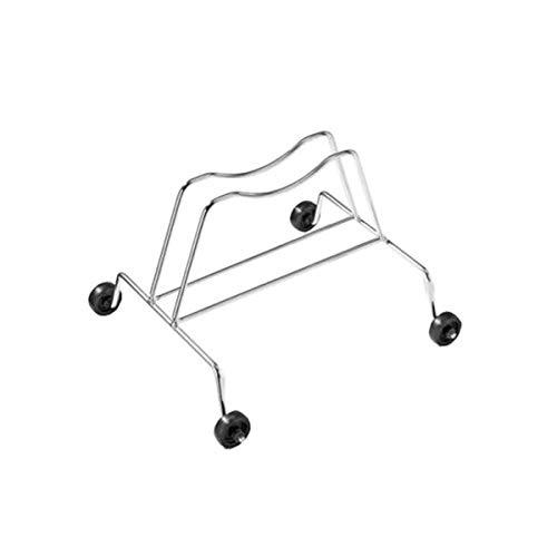 ANDRYS Porta Biciclette a Terra 1 Posto con Ruote in Acciaio zincato con Ruote fisse. La curvatura Superiore è Un Sistema Brevettato SRL per sistemare Anche Le Biciclette con...