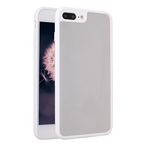 iPhone 8 Plus / 7 Plus Bumper Case, iPhone 8 Plus Hülle Transparent Silikon, iPhone 7 Plus Hülle Durchsichtig Silikon, Moon mood® Schutzhülle für Apple iPhone 8 Plus / iPhone 7 Plus 5.5 Zoll Ultra Dün Weiß