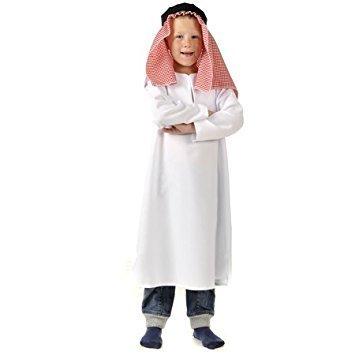 cher Man Arabisch Schäferhund Gastwirt Geburt Maskenkostüm 3-5 Jahre (Gastwirt Kostüm)