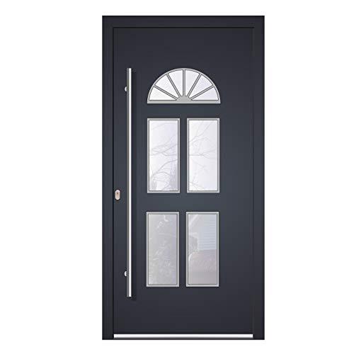 Haustür Welthaus WH94 RC2 Premiumtür Aluminium mit Kunststoff KL500 Tür nach mass gemacht Farbe aussen Anthrazit Innen weiß außengriff BGR1600 innendrucker M45 Zylinder 5 Schlüßel