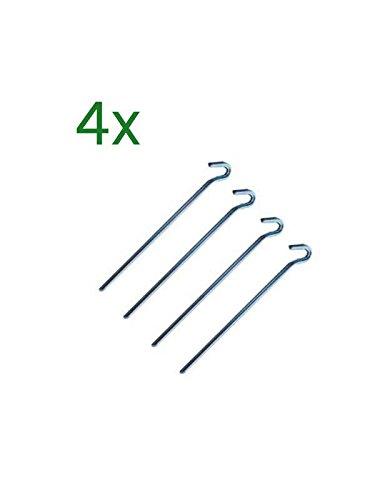 CLP XXL-Rosenbogen Anker I Extra Lange verzinkte Erdhaken, 30 cm I Extra Lange Zeltheringe I Bestellung 4er Set
