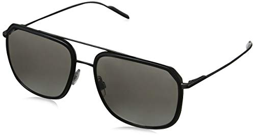 Dolce & Gabbana Herren 0DG2165 04/6G 58 Sonnenbrille, Grau (Grey/Gunmetal/Lightgreymirrorsilver)