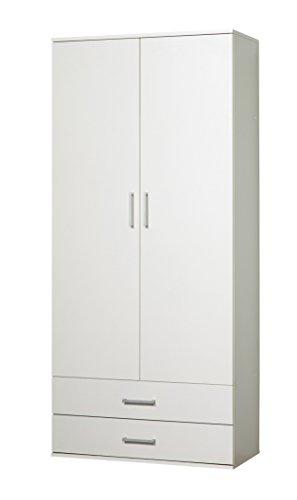 *WILMES 40102-75 0 75 Schrank Ronny mit Staubsaugerfach Dekor Melamin, 80 x 178 x 39 cm, weiß*