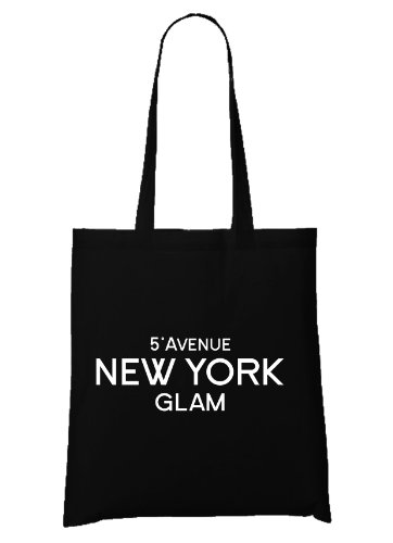 New York City Bag (Certified Freak 5° Avenue New York Glam Bag Black)