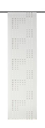 Home Fashion 87275-760 Flächenvorhang, Voile Scherli, 245 x 60 cm, Stein