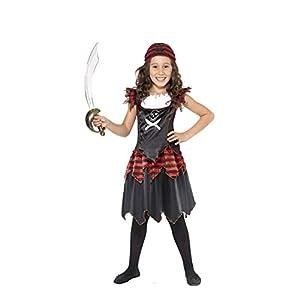 Smiffys Pirate Skull & Crossbones Girl Costume, M - Age 7-9 years