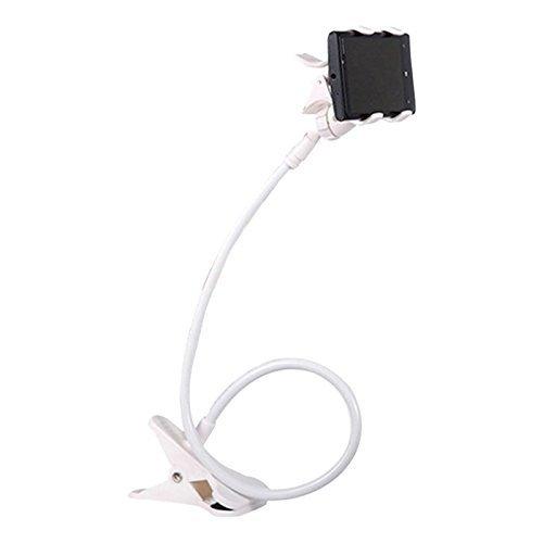 Hrph 360 Grad Drehbar Flexible Handy Halter Ständer für Handy Langarm Halter Klammer Unterstützung für Bett Desktop Tablette - Weiß -