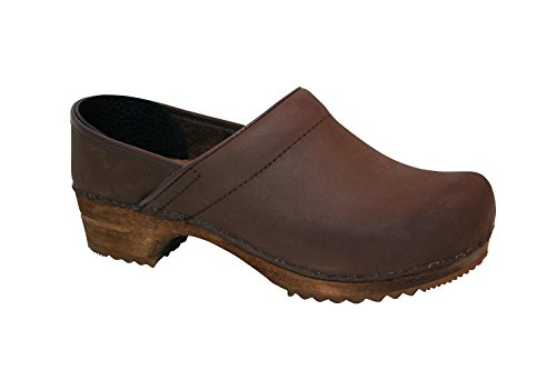 Sanita Jamie closed Herren Clogs Antik-Braun