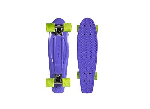 Kryptonics 57,1cm Original Torpedo komplett Skateboard, violett