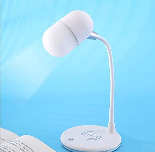 ERKEJI Altavoz Bluetooth Lámpara de Mesa Protección Ocular Inteligente Atenuación Tridimensional Luz...