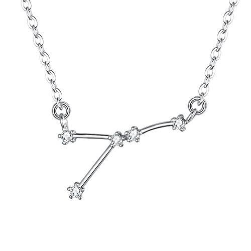 Clearine Mujer Collares Serie de Constelación - Cáncer Colgante Plata de Ley 925 Horóscopo Exclusivo para Regalo Boda Novia