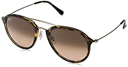 Ray-Ban Gradient Square Unisex Sunglasses - (0RB4253710/A553|52|Pink Gradient Brown Color)