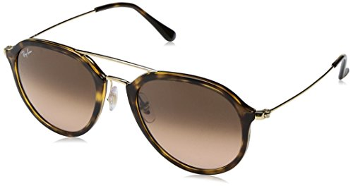 Ray-Ban RAYBAN Unisex-Erwachsene Sonnenbrille 4253 Havana/Pinkgradientbrown, 53