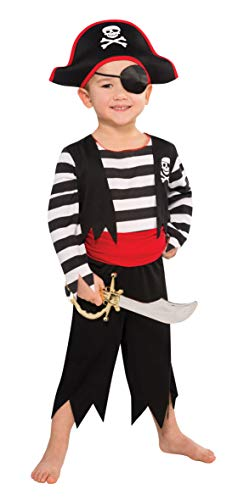 Amscan 997026 Kinderkostüm Deckhand Pirat, Mehrfarbig, 4-6 Jahre (Kostüm Kleinkind Jungen Pirat)