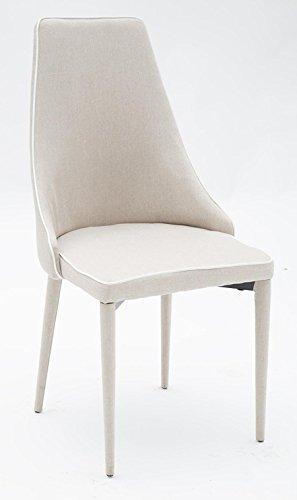 arredinitaly – Fauteuil avec structure en métal et assise rembourrée en tissu beige – Dimensions L.52 P.52 H.80 cm. Séance h.47 cm.