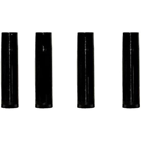DIY Natural Products 25 Count Black Lip Balm Tubes &