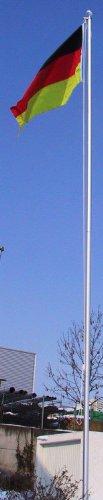 Fahnenmast ALU, Bodenhülse, Seilzug, Obere Abdeckung Größe 6.8 Meter