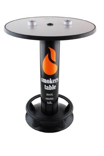 SEVERIN Rauchertisch - Stehtisch mit Aschenbecher Standaschenbecher Outdoor Indoor (Aschenbecher Sonne)