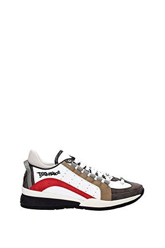 Dsquared2 chaussures baskets sneakers homme en cuir 551 blanc Multicouleur