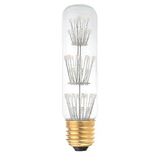 T10 Licht Birne (REFURBISHHOUSE3W T10 LED Birne AC 220V E27 Basis Licht Warm Weiss 2200K)