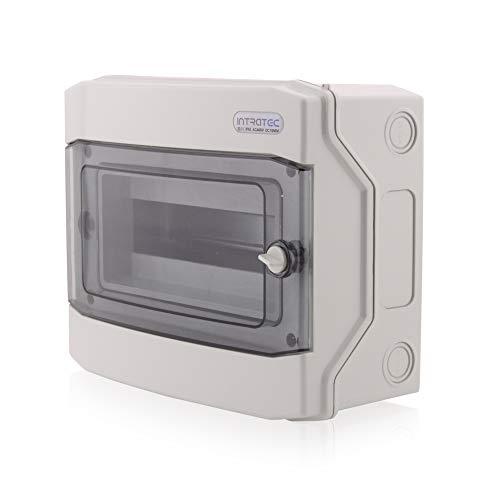 Sicherungskasten Aufputz IP65 Feuchtraum Verteiler Elektroinstallationsverteiler Kleinverteiler Installation im Garten oder anderen Außenbereichen 1-reihig 12 Module -