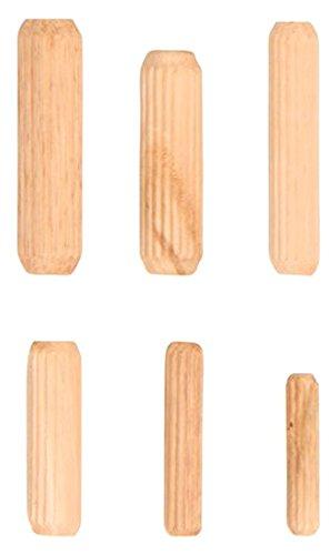 Kraftmann 88162 Assortiment de chevilles bois, Beige, Set de 53 Pièces