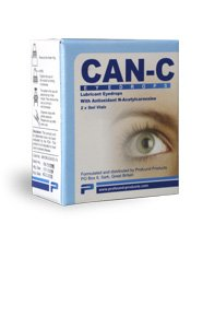 Can-C (N.A.C.) Eye Drops, Lubricant eyedrops with antioxidant n-acetylcarnosine. 2 Vials of 5 ml